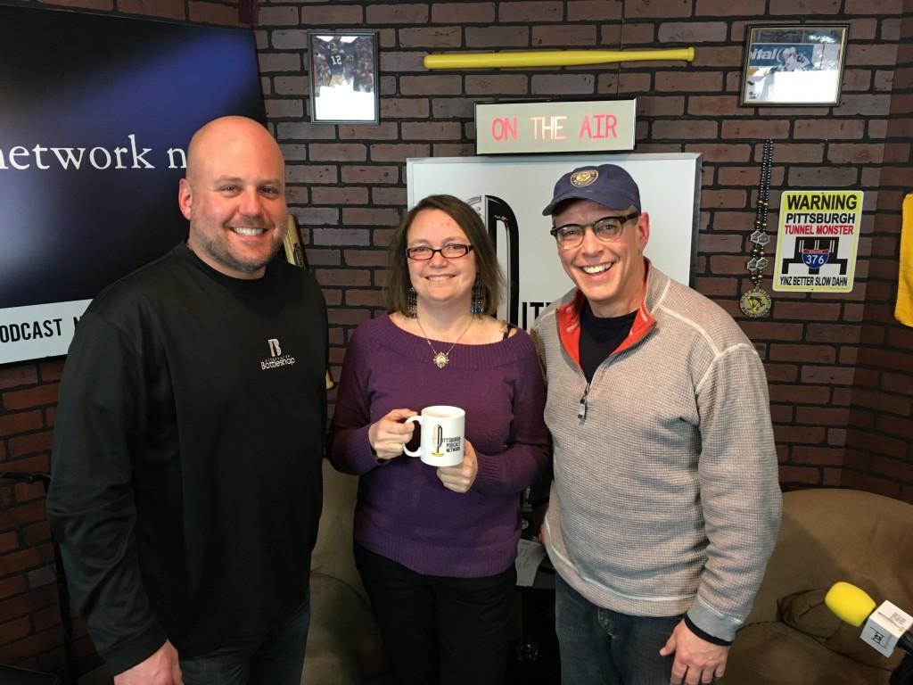 L to R: Craig Tumas, Jen England of 412 Food Rescue, John Chamberlin